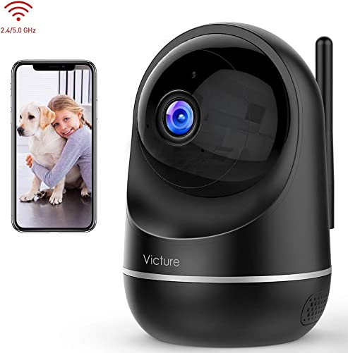 Victure Dualband 2.4Ghz 5Ghz WiFi Camera Home Camera,1080P Security Pet Camera Baby Monitor with Two-Way Audio,Motion Detection