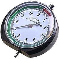 Dxlta Reifenprofilmesser Metall Analog, Reifenprofil Tiefenmesser Werkzeug 0-11mm/0-0.43inch Rad Reifen Messung für Auto LKW Bike Motorrad