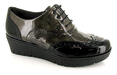 Pitillos, 1901, Blucher Navy-Grey de Mujer, Talla 40: Amazon.es: Zapatos y complementos