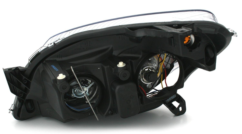 negro Juego de faros hal/ógenos incluye servomotores para regular el alcance