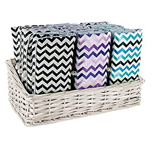Zoe Zander Jewelry Roll, Purple Chevron, One Size