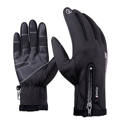 écran tactile, double couche imperméable d'hiver gants gants de cyclisme Sport Gants pour Moto Ski Snowboard