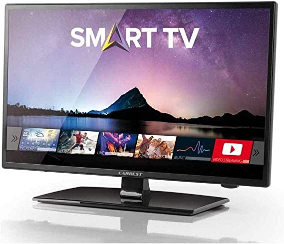Carbest - Televisor LED inteligente (12 V, 32 pulgadas, Full HD, WiFi, Android, Caravan, TV): Amazon.es: Coche y moto