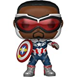 Funko Pop! Marvel: Falcon and The Winter Soldier - Captain America (Sam Wilson) with Shield, Year of The Shield Amazon Exclus