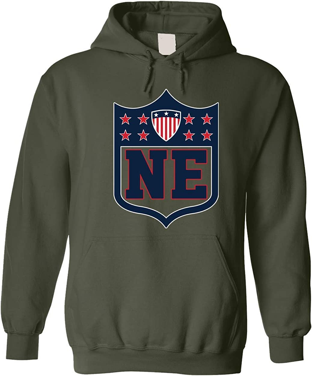 Americas Finest Apparel New England Shield Hoodie Military Green