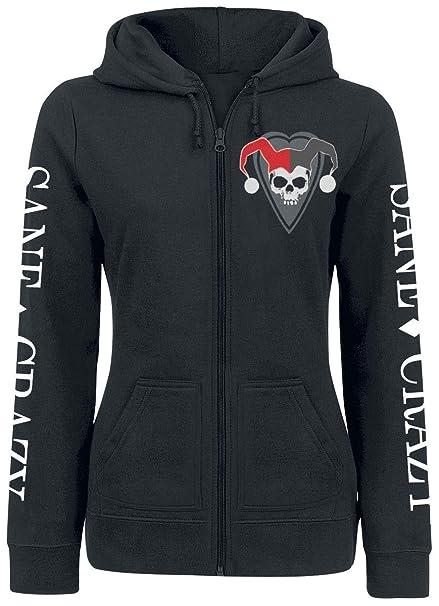 Harley Quinn Sane & Crazy Chaqueta con capucha Mujer Negro XL: Amazon.es: Ropa y accesorios