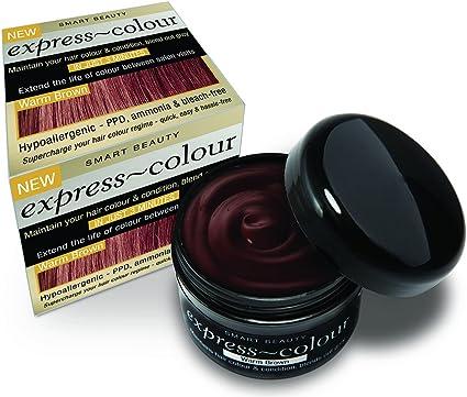 Chocolate Cálido Marrón Pelo Tinte Color Desodorante y Acondicionador Intensivo Ppd & Bleach Gratis