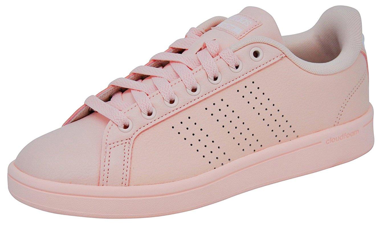 online retailer 3caab 016d0 Galleon - Adidas Womens Cloudfoam Advantage Clean Sneakers (8.5 B(M) US,  Ice PinkIce PinkWhite)