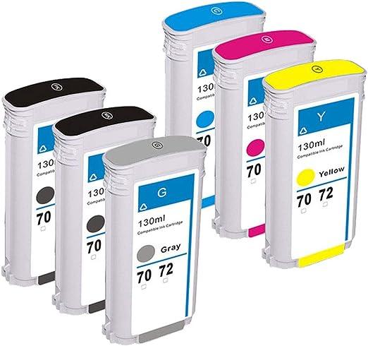 Karl Aiken 6 Pack COMPATIBLES sustituir para HP 72 XL cartucho de tinta HP Designjet T610 T620 T770 T790 T1120 T1200 T1300 T2300: Amazon.es: Oficina y papelería