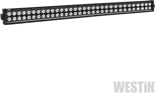 Westin 09-12212-8F B-Force Black Face 4 inch Double Row LED Light Bar with Flood Beam Westin Automotive Products