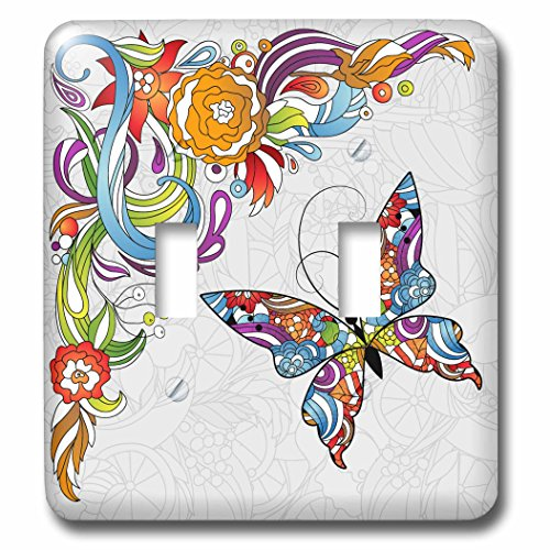 3dRose lsp_102507_2 Abstract Flower Swir - Design Double Toggle Switch Shopping Results