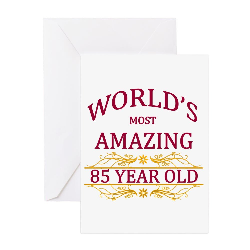 Amazon Cafepress 85th Birthday Greeting Card Note Card