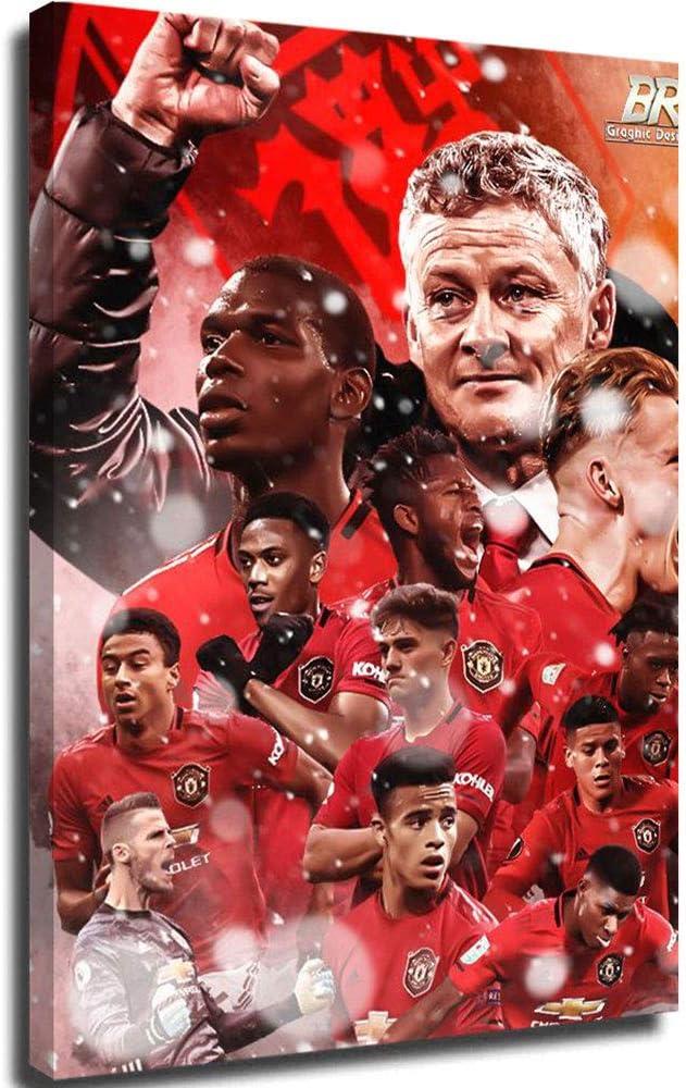 PLAZALA Cuadros de lienzo para pintar cuadros en lienzo de la Liga de Campeones de los Diablos Rojos del Equipo de la Pintura de Lienzo Arte de la Pared de 30,48 x 40,64