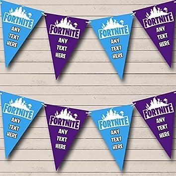 Fortnite Bleu Violet Anniversaire Fanions Fete Banderole Decoration
