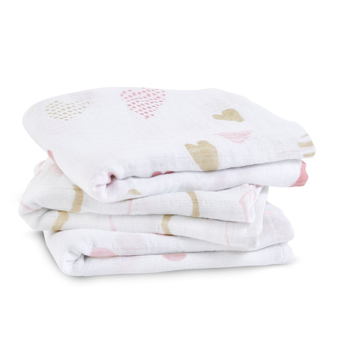 aden + anais Classic Musy Muslin Squares (Pack of 3)Heartbreaker