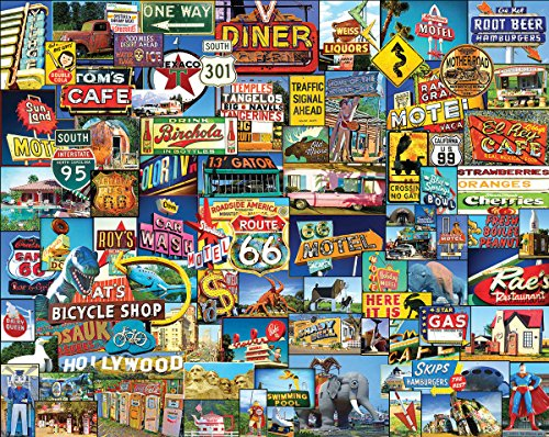 White Mountain Puzzles Roadside America, 1000 Piece Jigsaw Puzzle