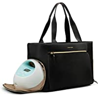 mommore Breast Pump Bag Diaper Tote Bag with 15 Inch Laptop Sleeve Fit Most Breast Pumps like Medela, Spectra S1,S2…