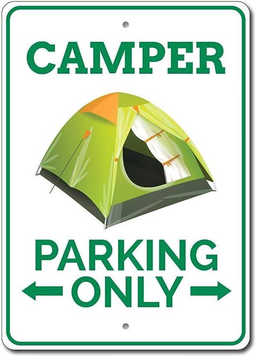 HNNT Cartel de estacionamiento para Caravana o Caravana, de Metal ...