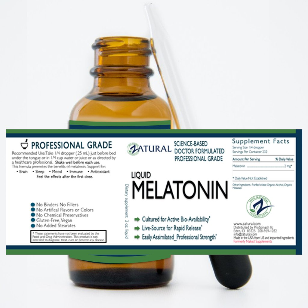 Amazon.com: Liquid MELATONIN | Cultured for Active Bio-Availability*| Live-Source for Rapid Release*| Easily Assimilated | Professional Strength* (1): ...