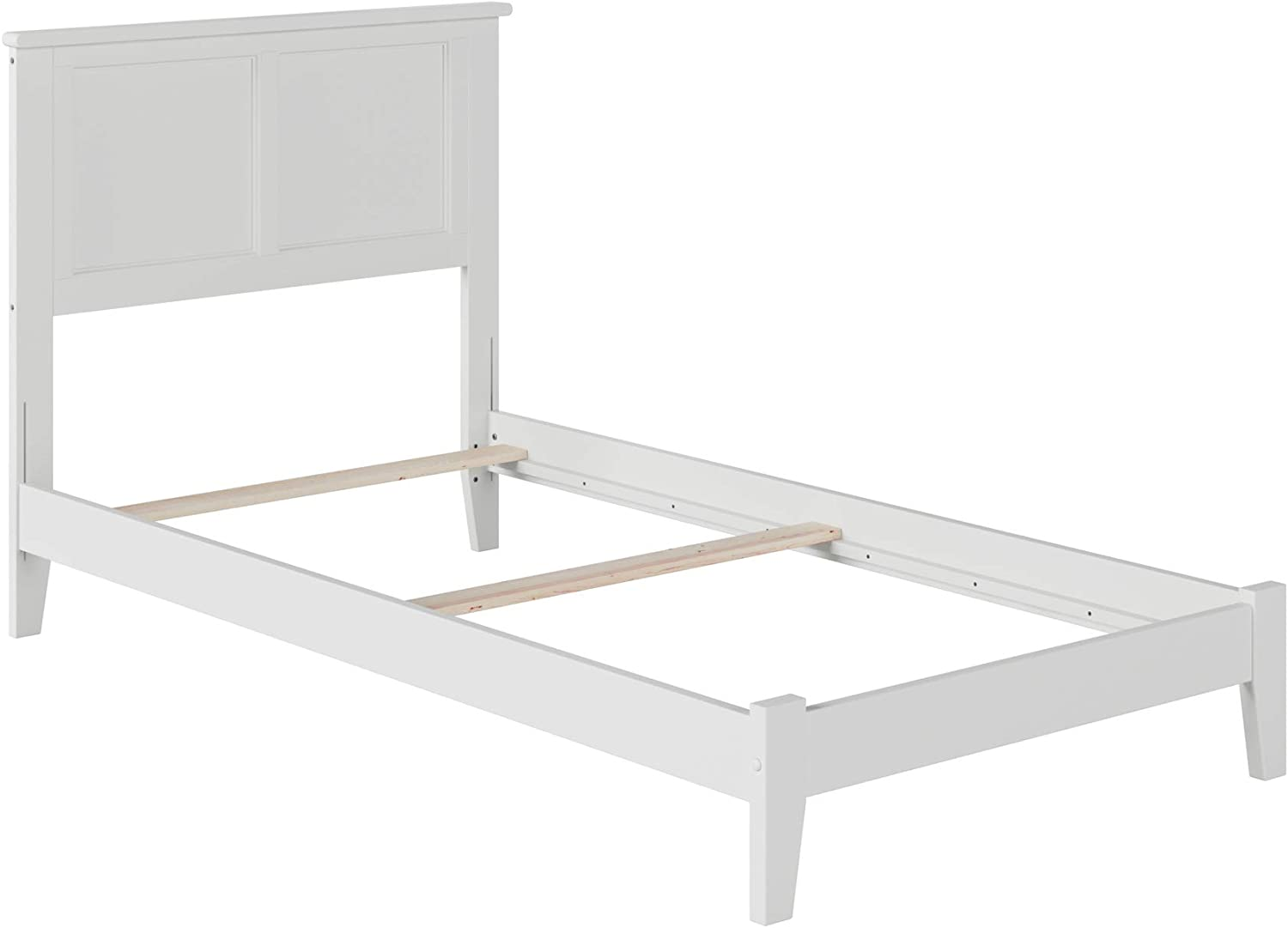 Atlantic Furniture Madison Traditional Bed, Twin, White