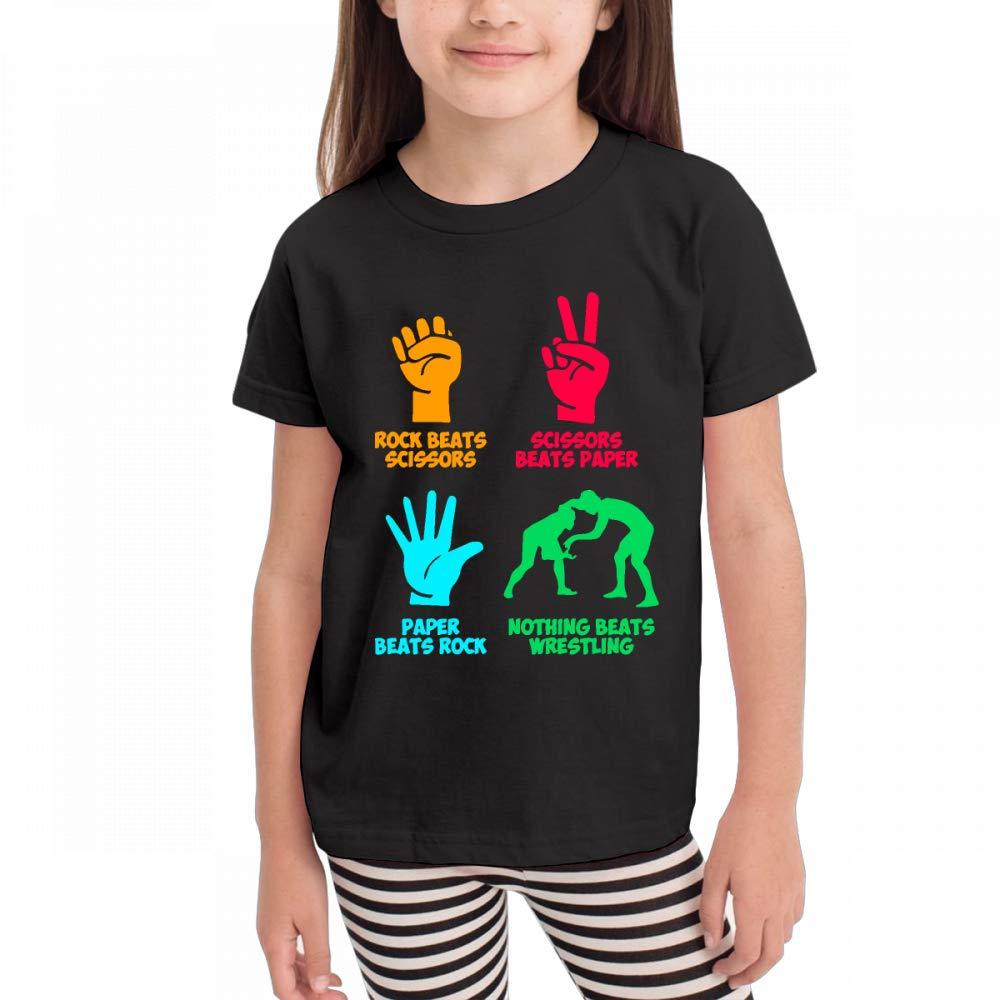 Antonia Bellamy Rainbow Nothing Beats Wrestling Children's Short Sleeve Crew Neck Graphic Tee Shirts Tops