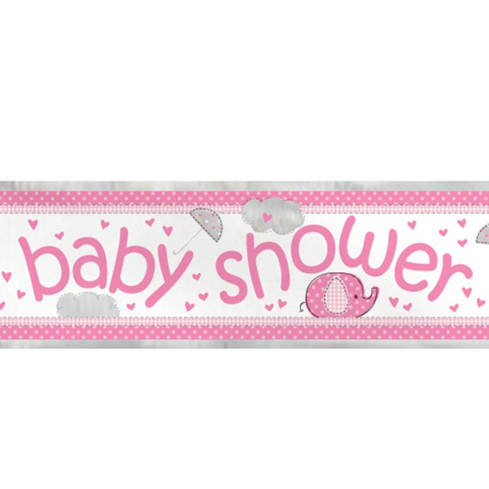 Mantel de Plástico - 2,13 m x 1,37 m - Baby Shower con Elefante Rosa: Amazon.es: Juguetes y juegos