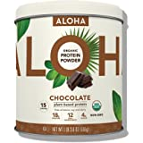 ALOHA Organic Plant-Based Protein Powder, Chocolate, 1 Pound 3.6 Ounce, 15 Servings