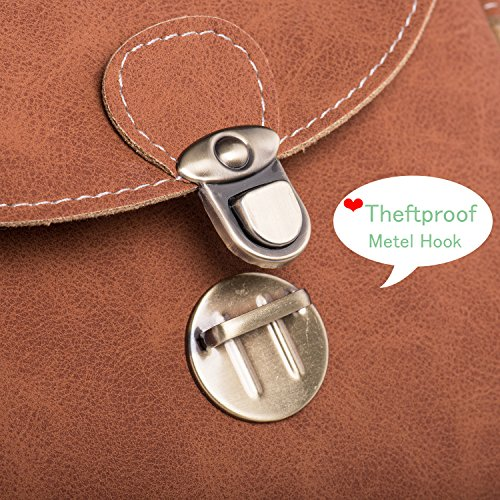 Classic Rechor Purse Safe Frosted Bag Small Teenager THEFT Tan Pouch Leather Children Mini Faux ANTI Mobile Shoulder with Phone Messenger Bag LOCK Girls Body Womens for Cross RRw6qg4