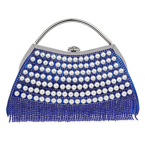 HKC Bolso de Noche Elegante y Exquisito de Las Mujeres Bolso de Lujo de la Señora con el Vestido de Noche del Diamante Bolso de Las Señoras (Color : 4) 5