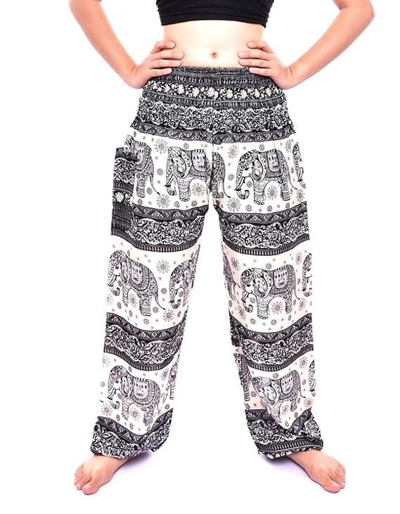 Bohotusk Mujer Bohemio Harem Pantalones - Boho Ver...