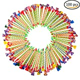 Ensunpal 100 Pcs Colorful Musical Blowouts Whistle Party Favors Funny Noisemakers Bulk Paper Blowouts