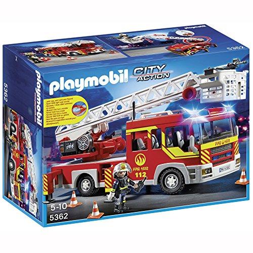 Ladder Playmobil (PLAYMOBIL 5362 - Feuerwehr-Leiterfahrzeug mit Licht und Sound)