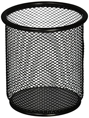 Lorell LLR84149 Mesh Wire Pencil Cup Holder, Black …