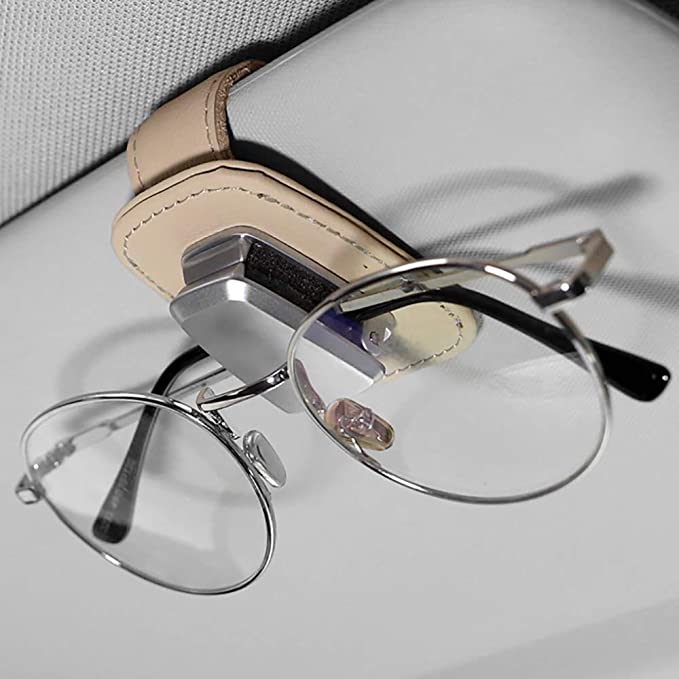 Car Accessory Sun Visor Sunglasses Eye Glasses Card Pen Holder Clip LC