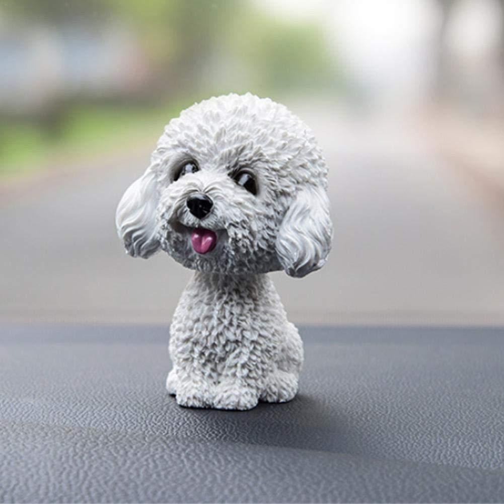 Nicken Hund Ornamente Mini Bobble-Head Spielzeug Auto Armaturenbrett Nicken Hund f/ür Auto Fahrzeug Dekoration Bobble Kopf Hunde f/ür Autos