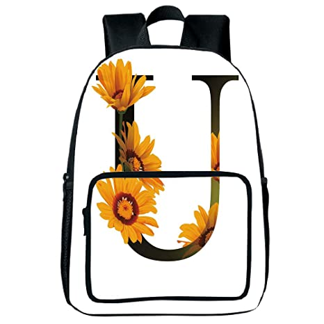 Amazon Com Increase Capacity Square Front Bag Backpack Letter U