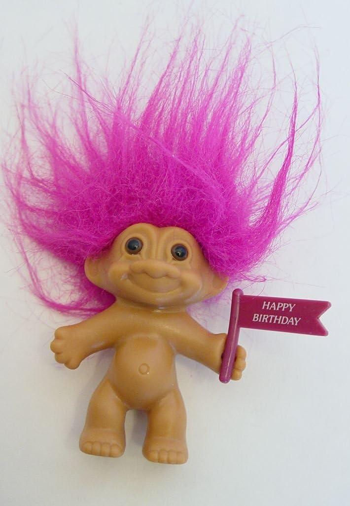 Amazon.com: Russ Troll Muñeca de pelo morado sujetando un ...