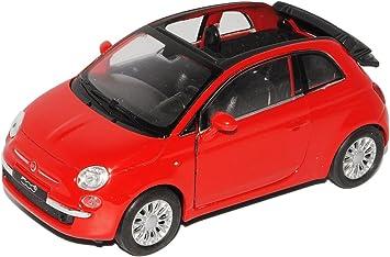 Fiat 500 2007 rot Modellauto 1:24 Welly