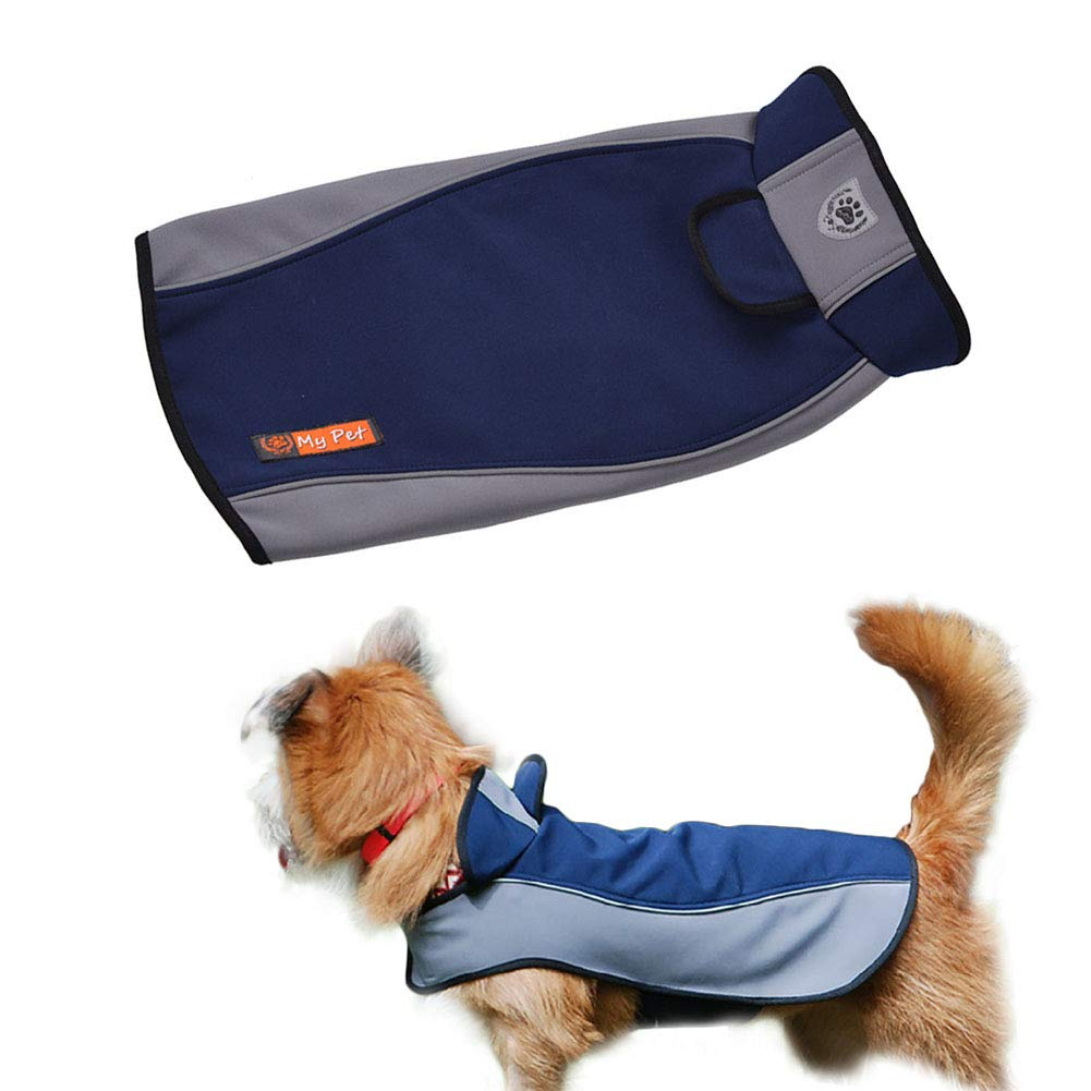 bluee XX-Large bluee XX-Large KINGSWELL Dog Jackets for Large Dogs Outdoor Waterproof Light Weight Poncho for Medium Small Dogs Safety Raincoats with Reflective Article (bluee) (XX-Large, bluee)