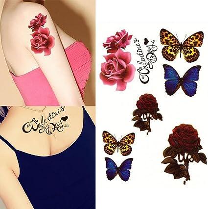 dfly 1 hoja cuerpo adhesivo 3d tatuajes fiesta boda mariposa Sexy ...