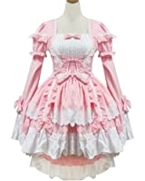 Leegoal Sexy Japan Cosplay Lolita Maid Halloween Fancy Dress Costumes Outfit.