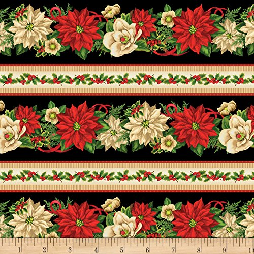 Stripe Repeating - Wilmington Prints Holiday Lane Repeating Stripe Multi Fabric by The Yard