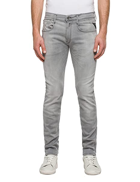 size 40 f0c70 891c9 REPLAY Anbass Hyperflex, Jeans Slim Uomo