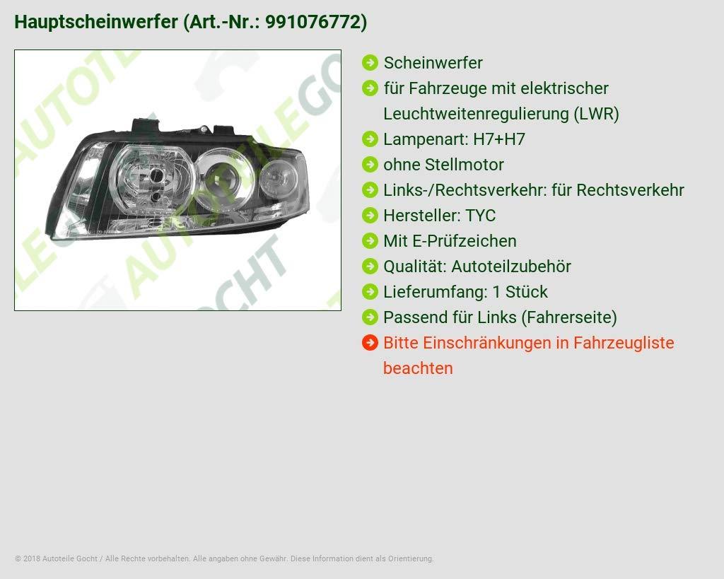 H7 Links Scheinwerfer H7
