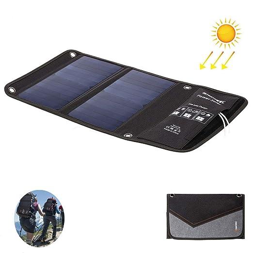 QWERDF Cargador Portátil Panel Solar Plegable, Solar ...