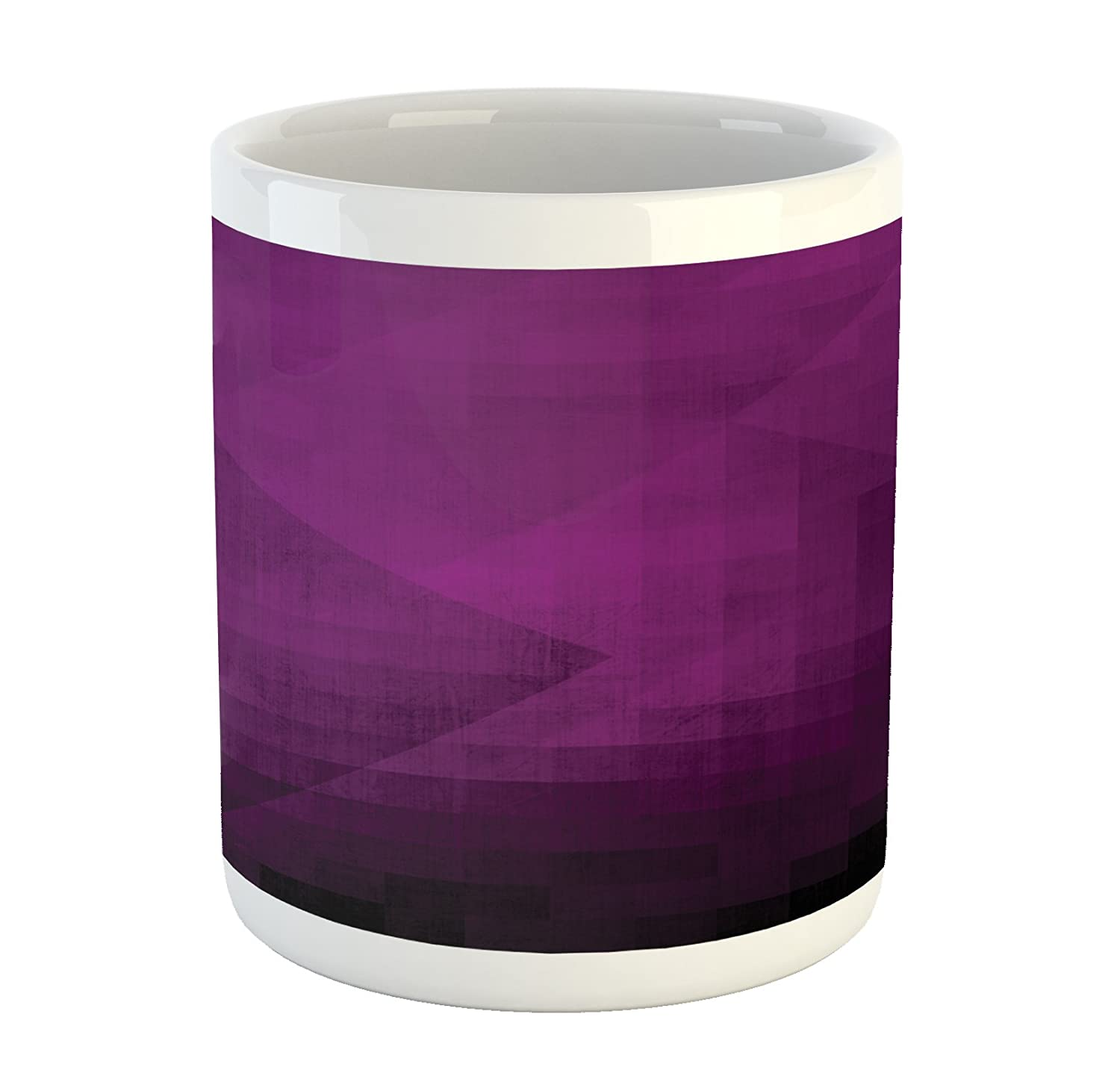 Amazoncom Ambesonne Eggplant Mug By, Abstract Purple Squares In Faded