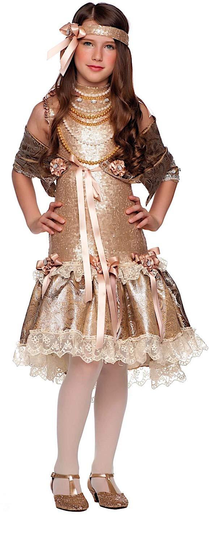 Costume di Carnevale da Anni 20 Baby Vestito per Bambina Ragazza 1-6 Anni Travestimento Veneziano Halloween Cosplay Festa Party 49540 Taglia 6