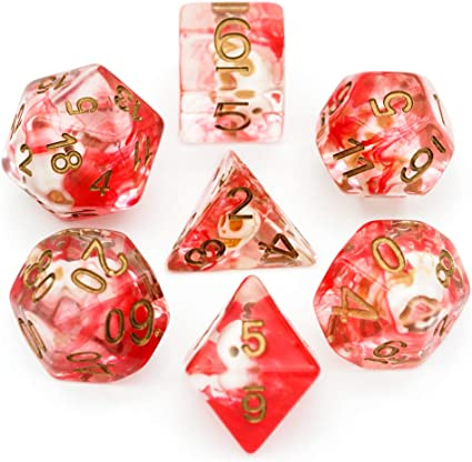Single D20 Polyhedral RPG Die Pathfinder Autumn Mist Tabletop and Roleplaying Games D/&D Dungeons and Dragons