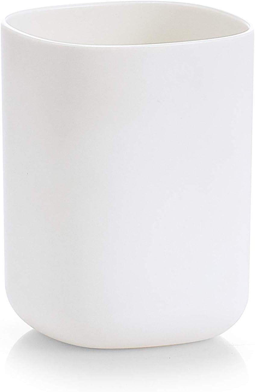 Zeller Portaspazzolini in plastica Colore Bianco