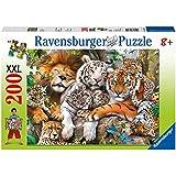 Ravensburger 12721 - Big cat nap (La siesta de los felinos), 200 piezas